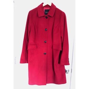 Talbots Red Wool Coat - size 10